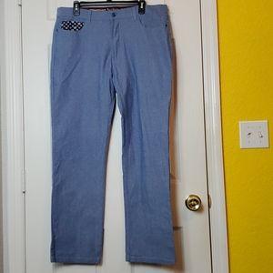Men's Casual Flat Front Slacks